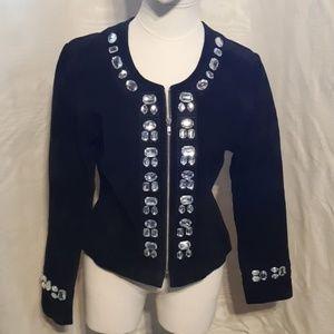 Kenar Suede Leather embellished Jacket size 12